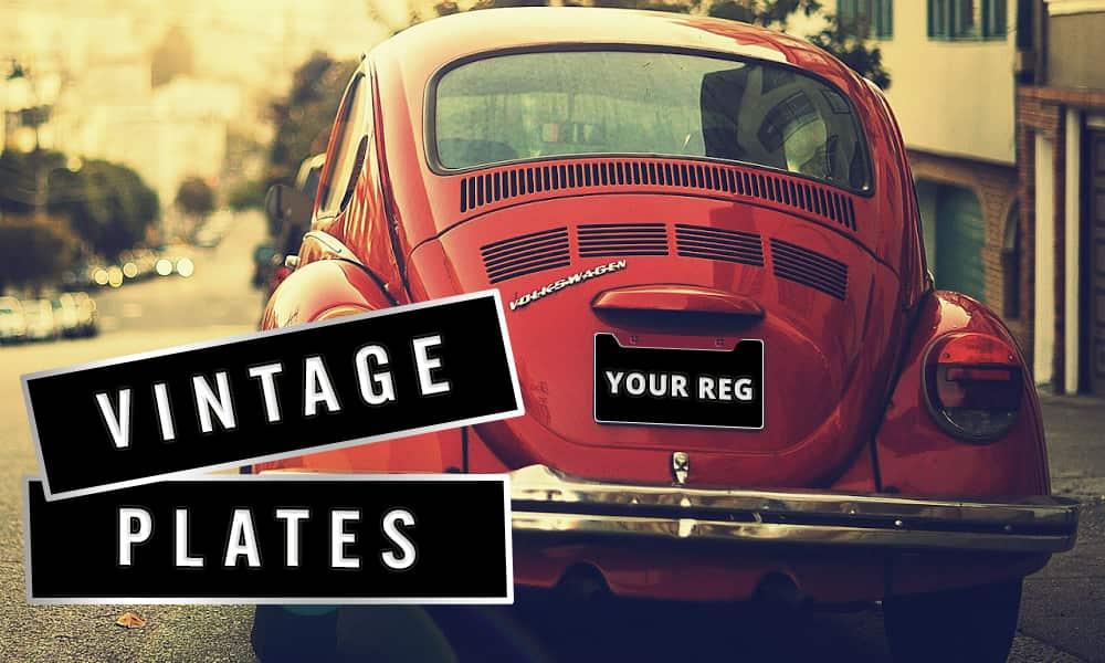 Vintage Number Plates - Easy Number Plates