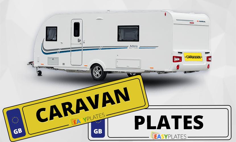 Caravan number plates